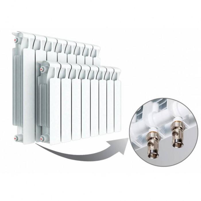 Биметаллические радиаторы Rifar (Рифар) Monolit 500 Ventil ( нижнее подключение ) - 4 секции (правое подключение)