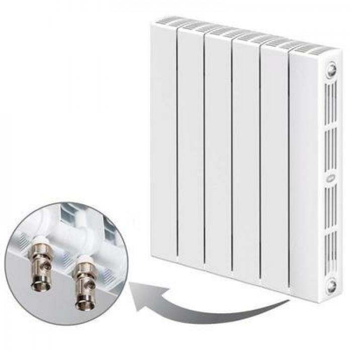 БиМеталлический радиатор Rifar SUPReMO Ventil 500 04  секции с нижним левым подключением